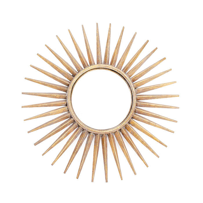 Brass Sun Mirror - Modern Industrial & Eclectic Vintage Furniture & Decor by Urbanily - Mirror