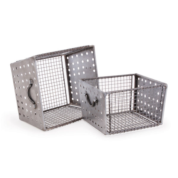 Industrial Wire Bins - Set of Two - Urbanily Lifestyle Goods