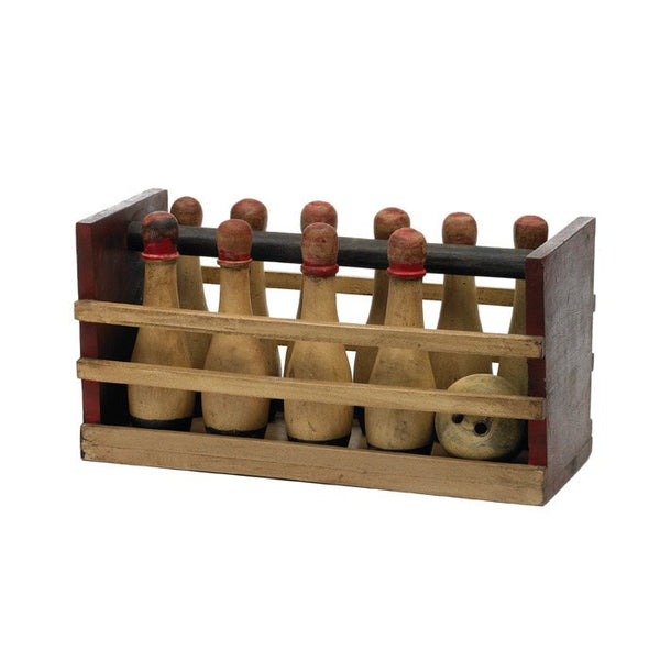 Wood Bowling Set - Modern Industrial & Eclectic Vintage Furniture & Decor by Urbanily - Office Accessory