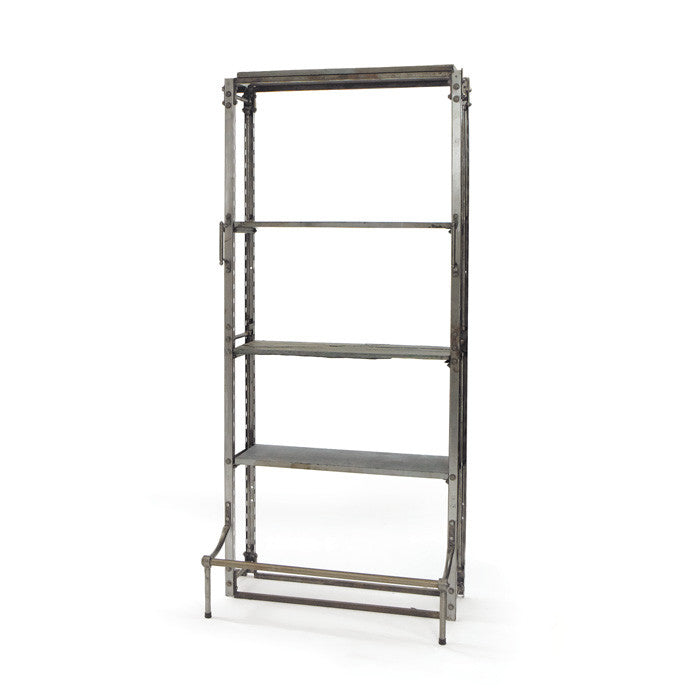 Steel and Slate Single Warehouse Shelf - Modern Industrial & Eclectic Vintage Furniture & Decor by Urbanily - Shelving