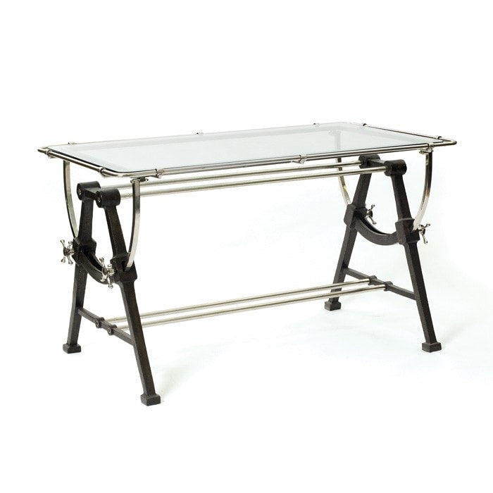 Nautical Table Desk - Modern Industrial & Eclectic Vintage Furniture & Decor by Urbanily - Desk
