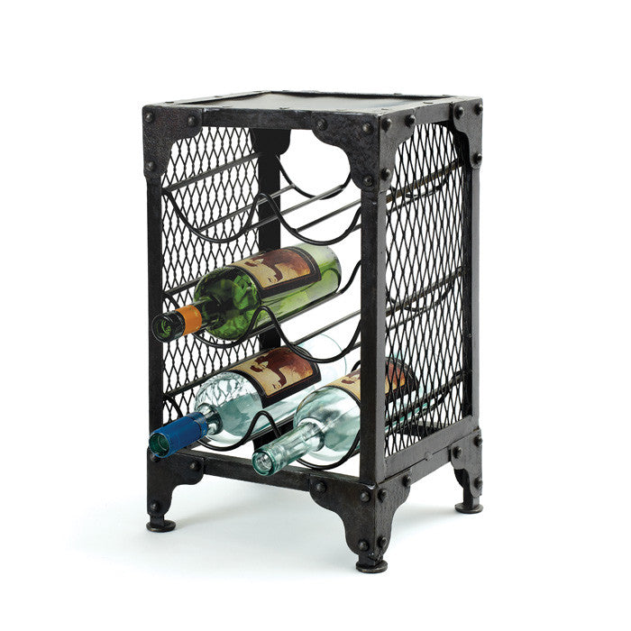 Iron Wine Rack - Modern Industrial & Eclectic Vintage Furniture & Decor by Urbanily - Wine Rack