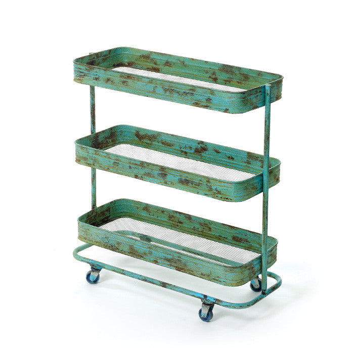 Hand Painted Lab Cart - Modern Industrial & Eclectic Vintage Furniture & Decor by Urbanily - Shelving