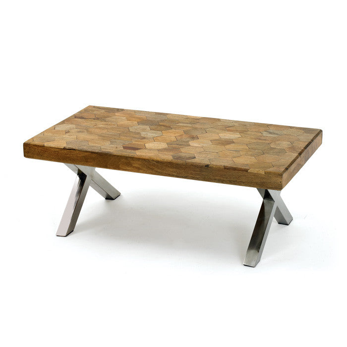 Parquet Wood Coffee Table - Modern Industrial & Eclectic Vintage Furniture & Decor by Urbanily - Coffee Table - 1