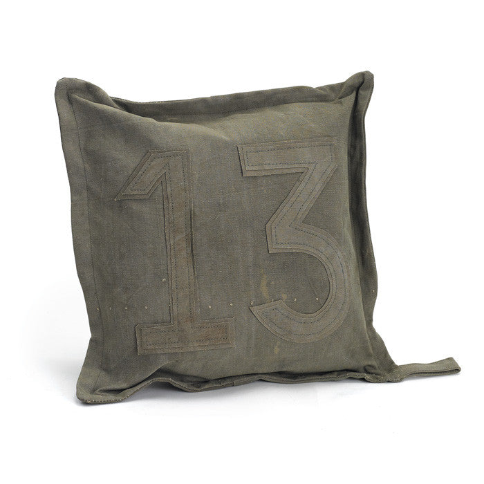 Vintage Tent Canvas Pillow #13 - Set of Two - Modern Industrial & Eclectic Vintage Furniture & Decor by Urbanily - pillow