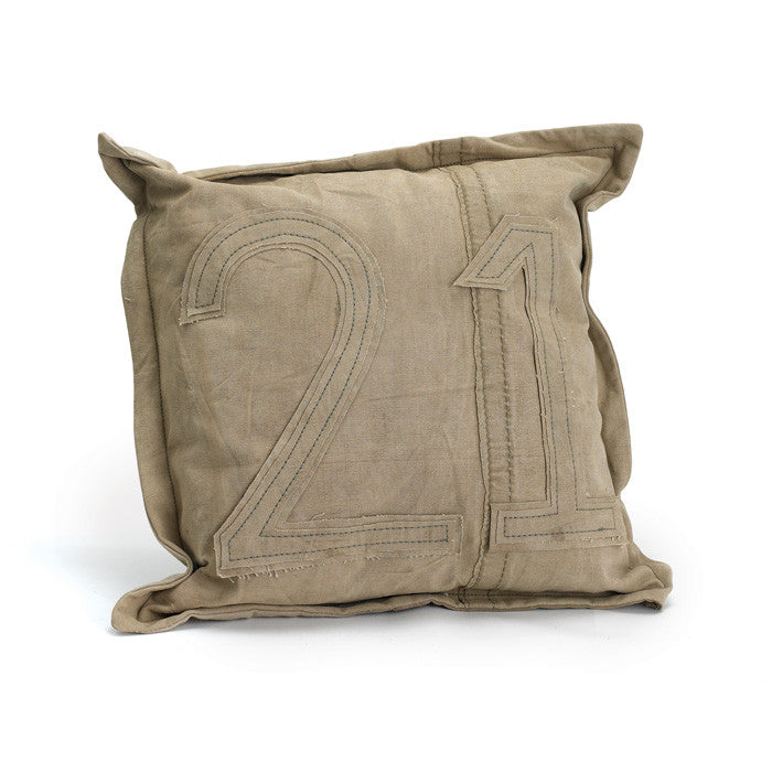 Vintage Tent Canvas Pillow #21 - Set of Two - Modern Industrial & Eclectic Vintage Furniture & Decor by Urbanily - pillow - 1