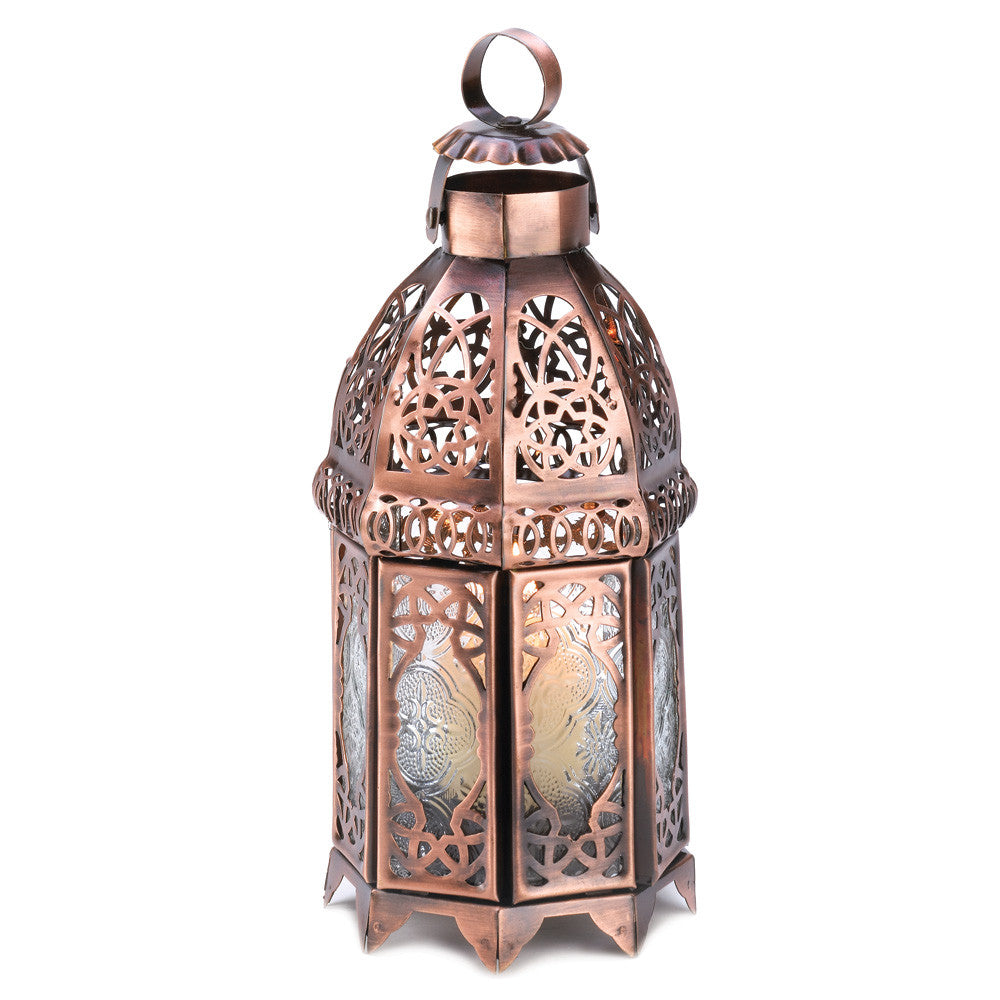 Copper Moroccan Candle Lamp - Urbanily Lifestyle Goods