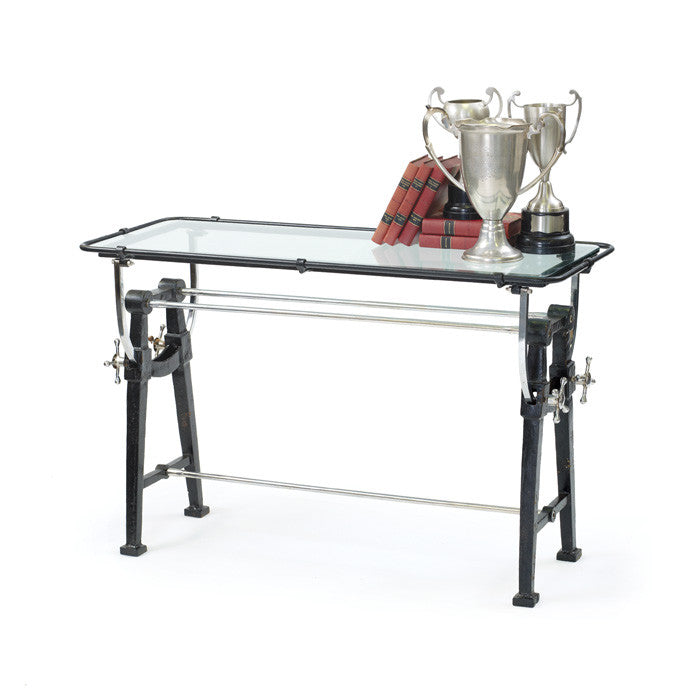 Iron and Glass Charting Table - Urbanily Lifestyle Goods
