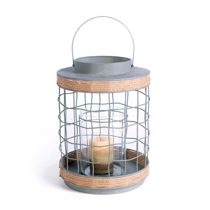 Iron Rope Lantern - Modern Industrial & Eclectic Vintage Furniture & Decor by Urbanily - Lantern