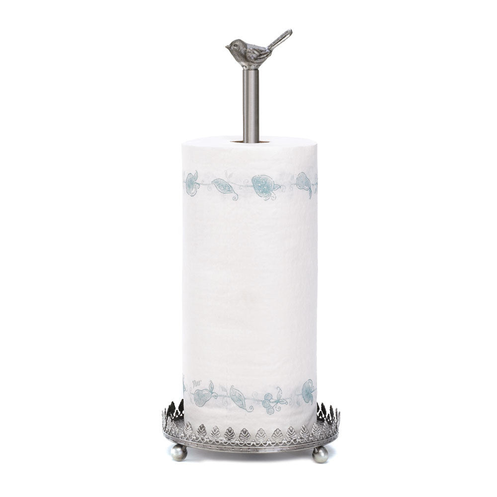 Joyful Chickadee Paper Towel Holder