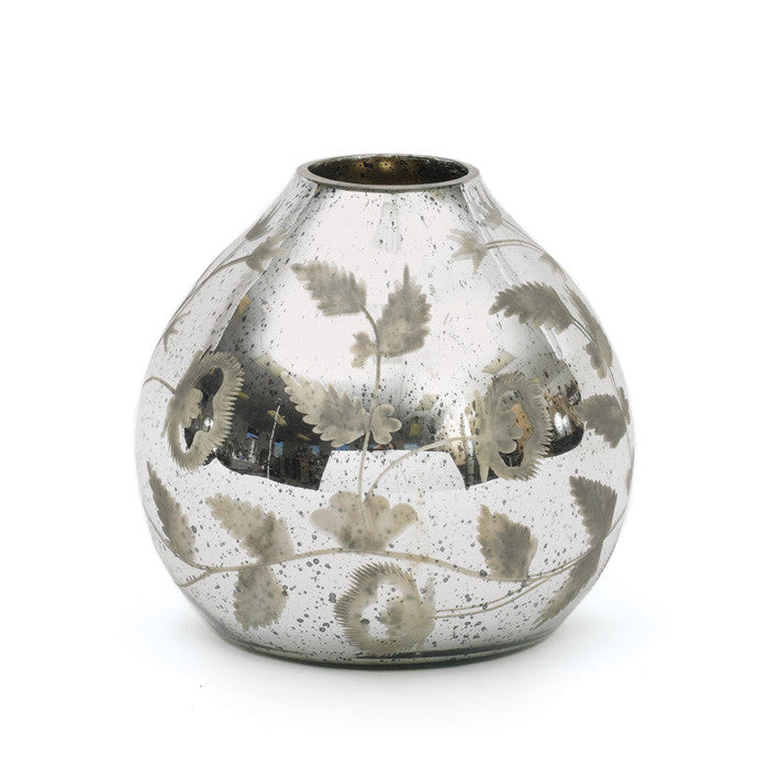 Mercury Tulip Glass Vase - Modern Industrial & Eclectic Vintage Furniture & Decor by Urbanily - Vase