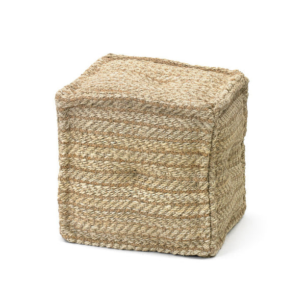 Natural Hemp Pouf - Modern Industrial & Eclectic Vintage Furniture & Decor by Urbanily - Pouf