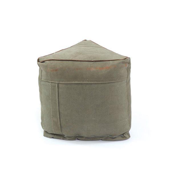 Army Tent Pouf - Modern Industrial & Eclectic Vintage Furniture & Decor by Urbanily - Pouf