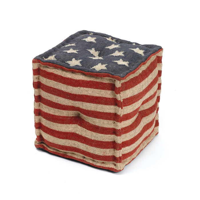 Star Spangled Pouf - Modern Industrial & Eclectic Vintage Furniture & Decor by Urbanily - Pouf