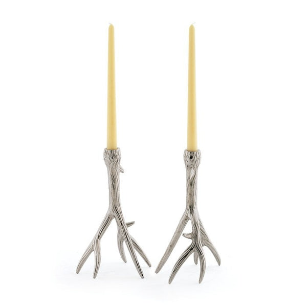 Pair of Antler Candleholders - Modern Industrial & Eclectic Vintage Furniture & Decor by Urbanily - Candle Holder - 1