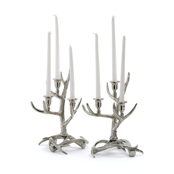 Antler Candelabras - Set of Two - Modern Industrial & Eclectic Vintage Furniture & Decor by Urbanily - Candle Holder