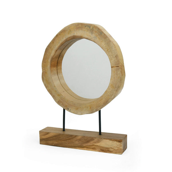 Reclaimed Wood Mirror on Stand - Modern Industrial & Eclectic Vintage Furniture & Decor by Urbanily - Mirror