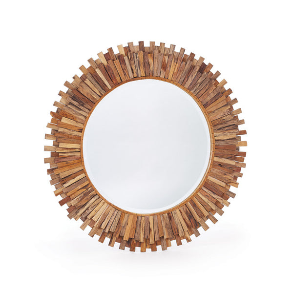 Hip Teak Wood Mirror - Modern Industrial & Eclectic Vintage Furniture & Decor by Urbanily - Mirror