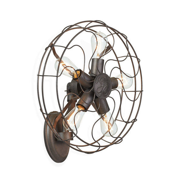 Retro Fan Inspired Wall Light - Modern Industrial & Eclectic Vintage Furniture & Decor by Urbanily - Wall Light