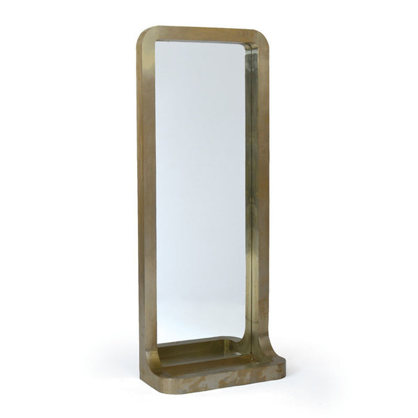 Wood and Aluminum Mirror - Modern Industrial & Eclectic Vintage Furniture & Decor by Urbanily - Mirror