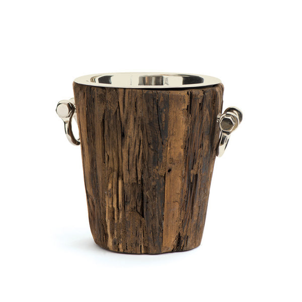 Rustic Wood Wine Bucket - Modern Industrial & Eclectic Vintage Furniture & Decor by Urbanily - Wine Cooler