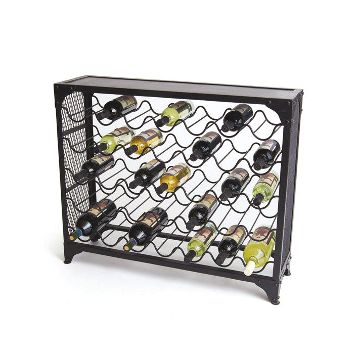 Iron Wine Rack - Grande - Modern Industrial & Eclectic Vintage Furniture & Decor by Urbanily - Wine Rack