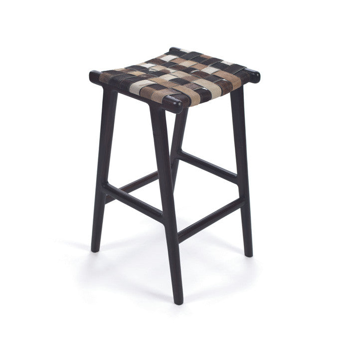 Hide and Wool Stool - Modern Industrial & Eclectic Vintage Furniture & Decor by Urbanily - Stool
