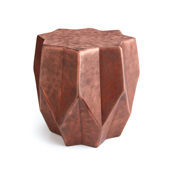 Geometric Copper Side Table - Modern Industrial & Eclectic Vintage Furniture & Decor by Urbanily - Side Table