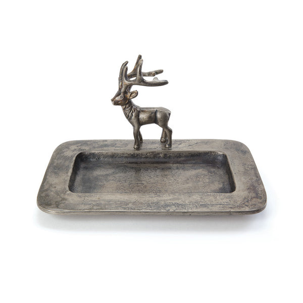 Deer Tray in Brushed Aluminum - Modern Industrial & Eclectic Vintage Furniture & Decor by Urbanily - Tray