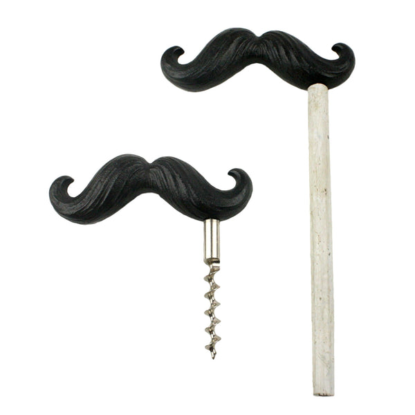 Mustache Bottle Opener and Wine Cork Pull