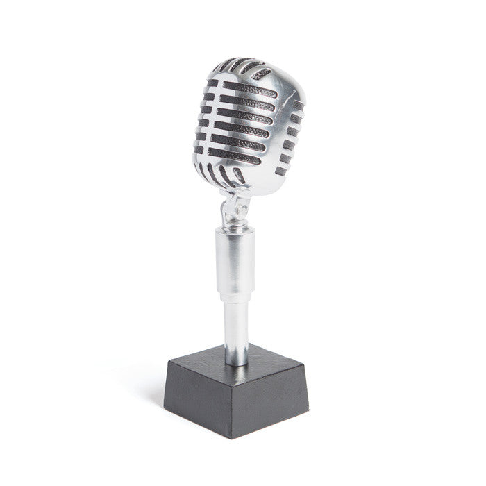 Microphone Trophy - Modern Industrial & Eclectic Vintage Furniture & Decor by Urbanily - Office Accessory - 1