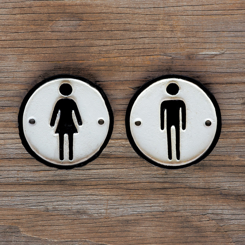 Cast Iron Metal Signs - Man And Woman - Urbanily Lifestyle Goods