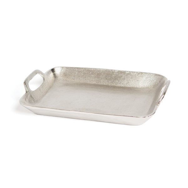 Brushed Nickel Tray - Modern Industrial & Eclectic Vintage Furniture & Decor by Urbanily - Tray