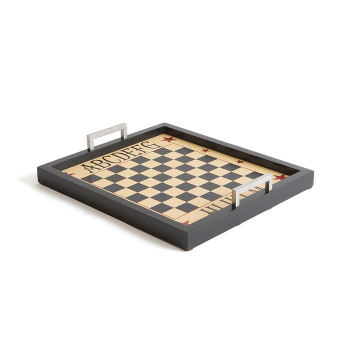 Wood Chess Tray - Modern Industrial & Eclectic Vintage Furniture & Decor by Urbanily - Tray