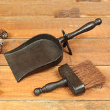 Fireplace Dust Pan With Broom - Modern Industrial & Eclectic Vintage Furniture & Decor by Urbanily - Accessories - 4