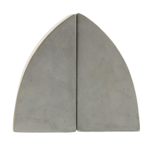 Geometric Cement Book Ends - Arch - Urbanily Lifestyle Goods