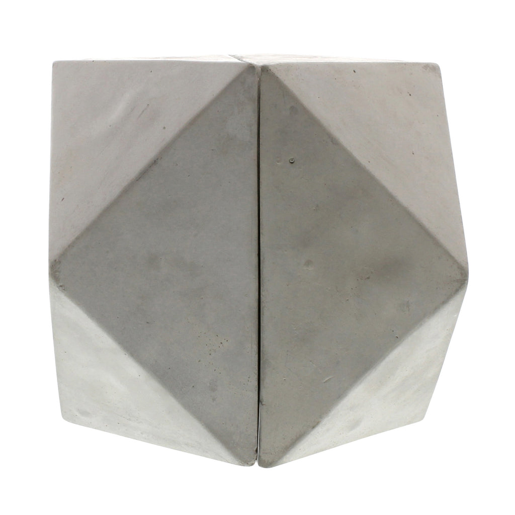 Geometric Cement Book Ends - Cubeoctahedron - Modern Industrial & Eclectic Vintage Furniture & Decor by Urbanily - Book Ends - 1