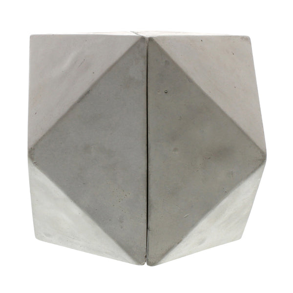 Geometric Cement Book Ends - Cubeoctahedron - Urbanily Lifestyle Goods