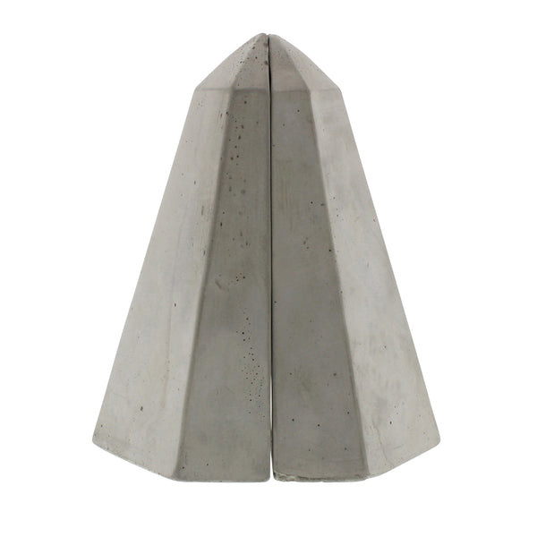 Geometric Cement Book Ends - Obelisk - Urbanily Lifestyle Goods