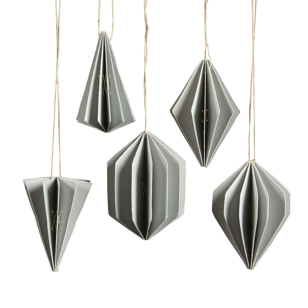 Geometric Paper Ornaments - Set of Ten - Urbanily Lifestyle Goods