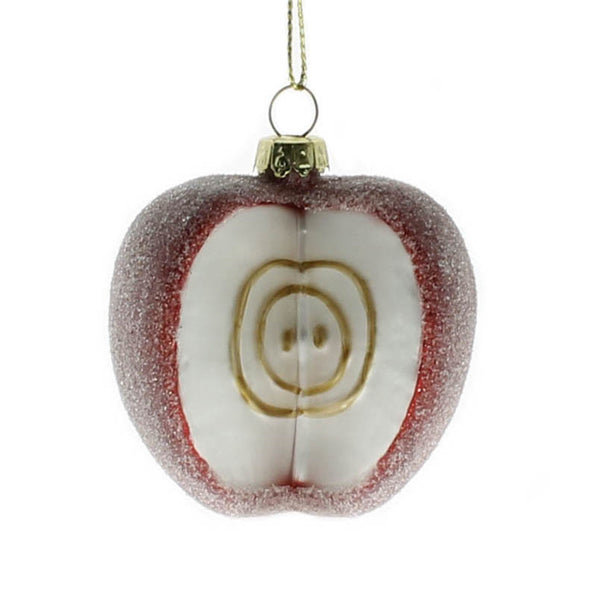 Apple Glass Ornaments - Set of Six