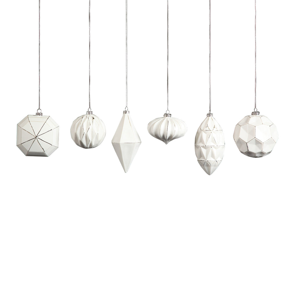 Geo Glass Ornaments - Set of Six - Urbanily Lifestyle Goods