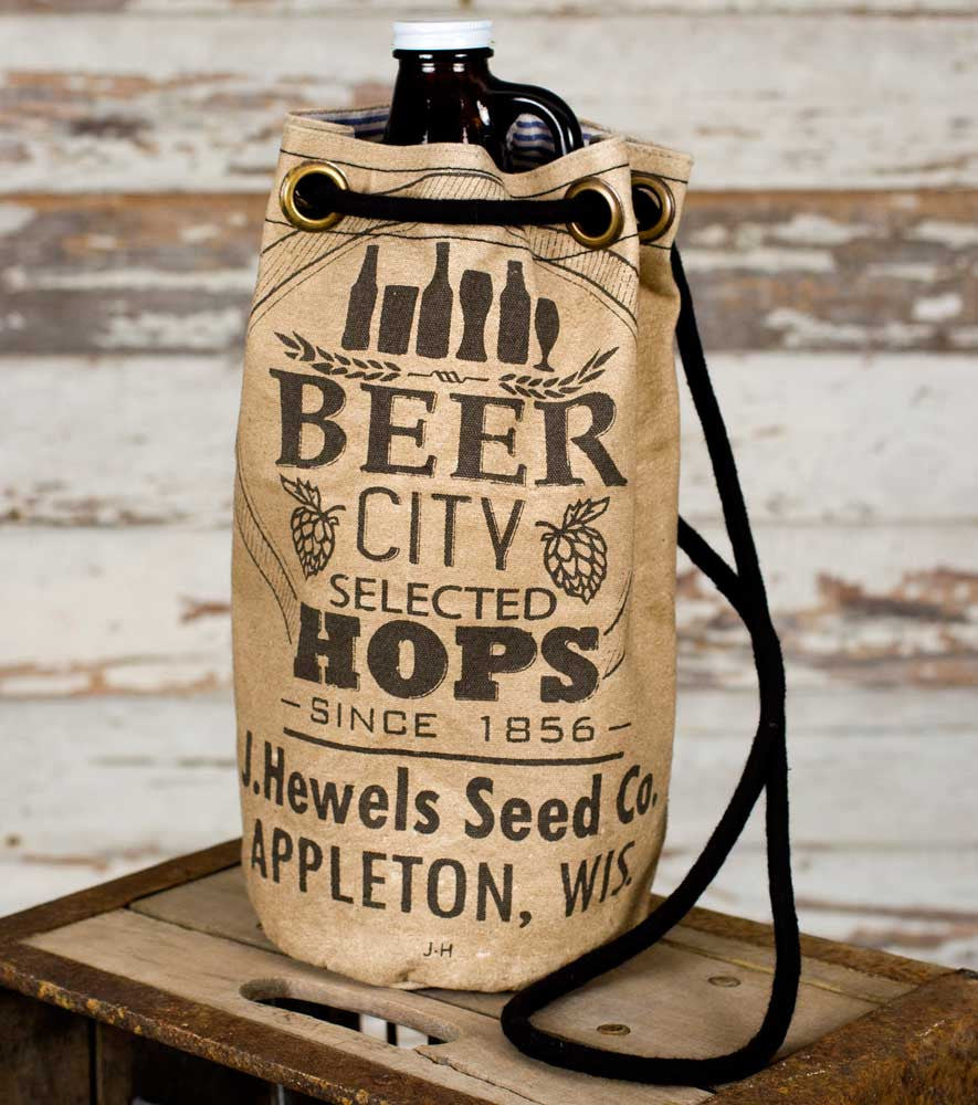 Beer City Growler Tote - Urbanily Lifestyle Goods