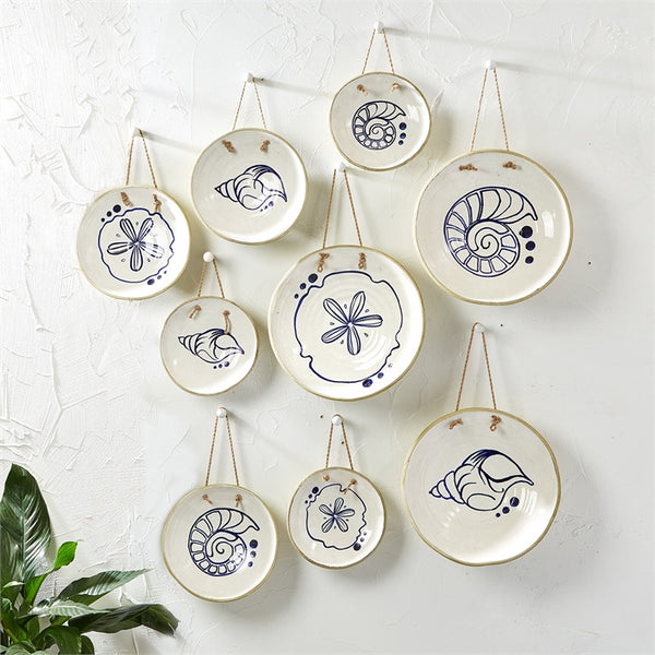 Mykonos Hanging Plates - Set of 9