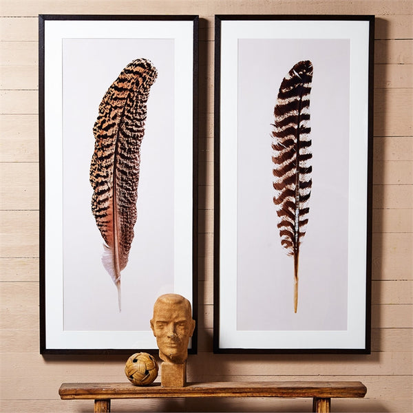 Feather Wall Art Large - Set of 2 - Urbanily Lifestyle Goods