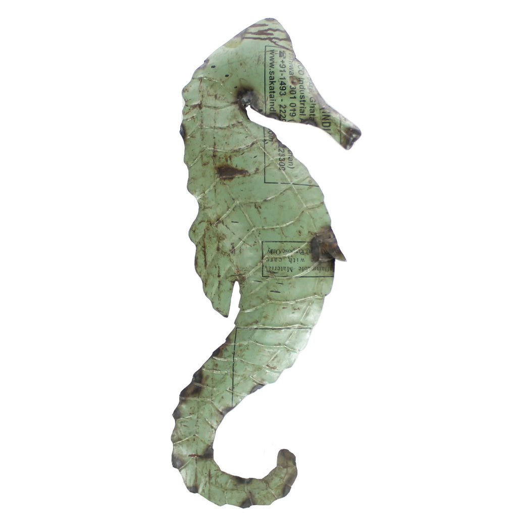Reclaimed Metal Seahorse - Wall Mount - Modern Industrial & Eclectic Vintage Furniture & Decor by Urbanily - Wall Art - 1