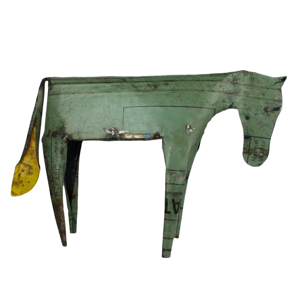 Reclaimed Metal Horse - Large - Modern Industrial & Eclectic Vintage Furniture & Decor by Urbanily - Accessories - 1