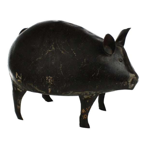 Reclaimed Metal Pig - Modern Industrial & Eclectic Vintage Furniture & Decor by Urbanily - Accessories - 1