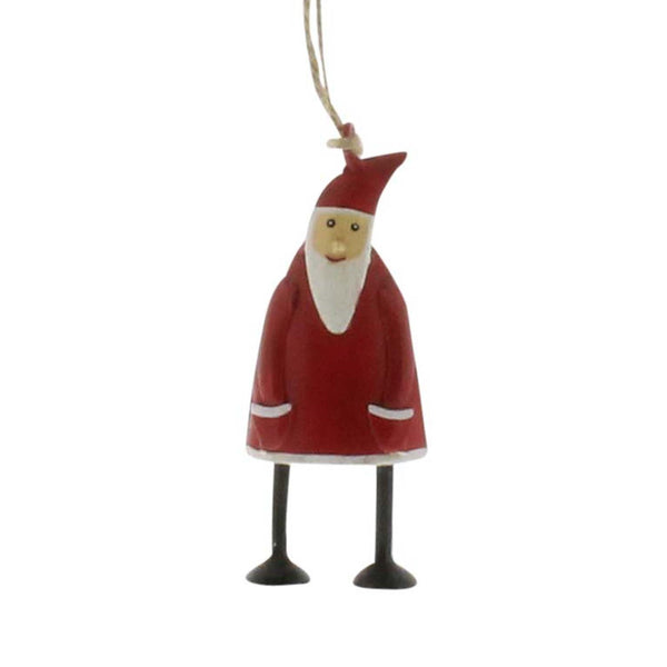 Hand Painted Santa Metal Ornaments - Set of Three - Urbanily Lifestyle Goods