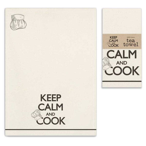 Keep Calm and Cook Tea Towels - Set of 4